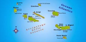 Azzorre Mappa